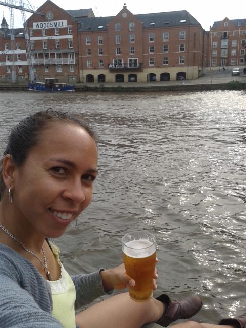 Fechando o passeio às margens do rio Ouse com uma pint!