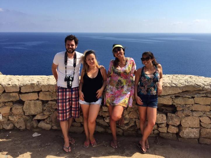 Grandes companheiros de viagem: Sandro, Izabel, eu e Carina (esquerda para direita)