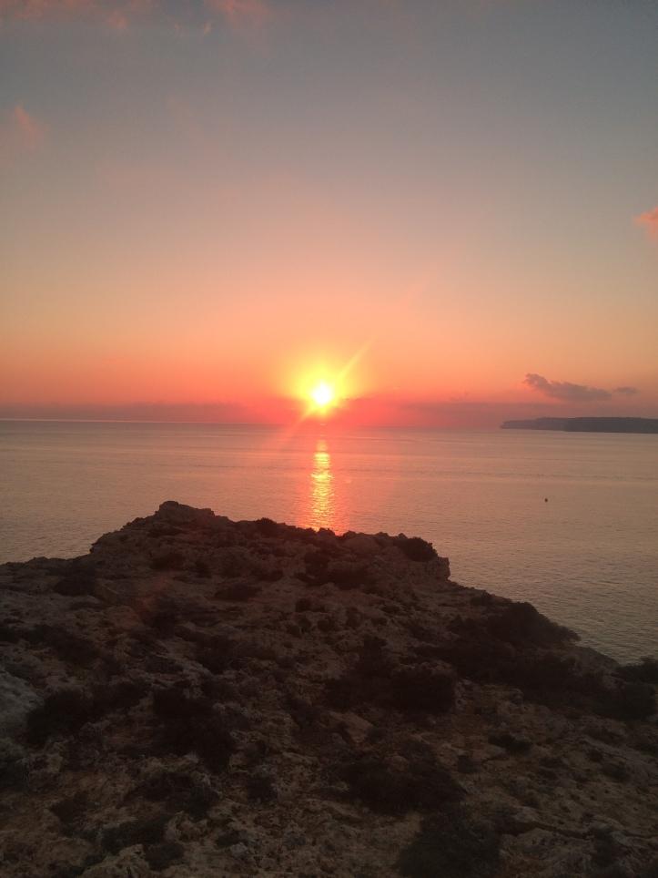 Pôr do sol em Paradise bay