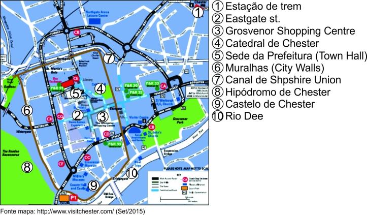 Mapa Chester