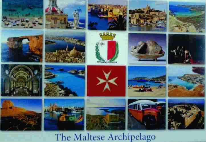 Postal arquipélago Malta frente