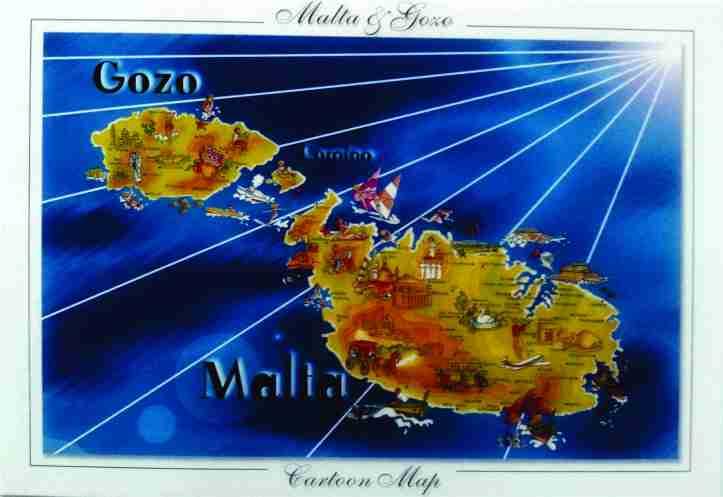 Cartão postal Malta frente