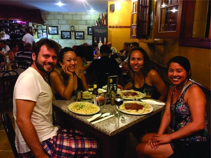 Jantar no restaurante Peristyle em Mdina (Ilha de Malta)