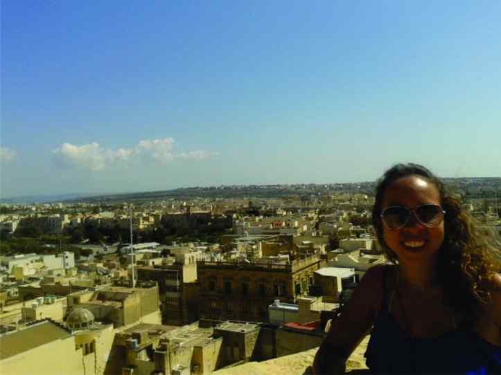 Vista de Victoria a partir do alto da Cittadella