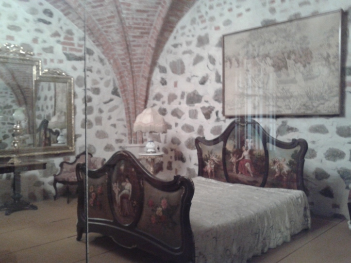 Antigos aposentos dos nobres do castelo de Trakai
