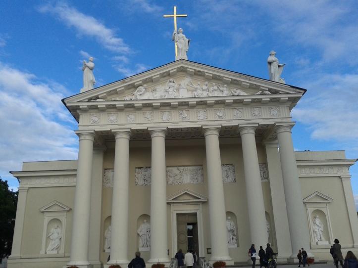 A monumental Catedral de Vilnius