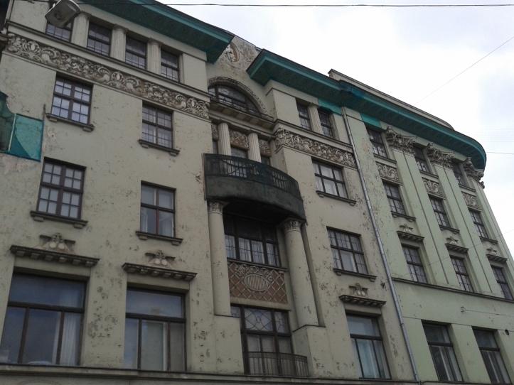 Um exemplo de edifício Art Nouveau