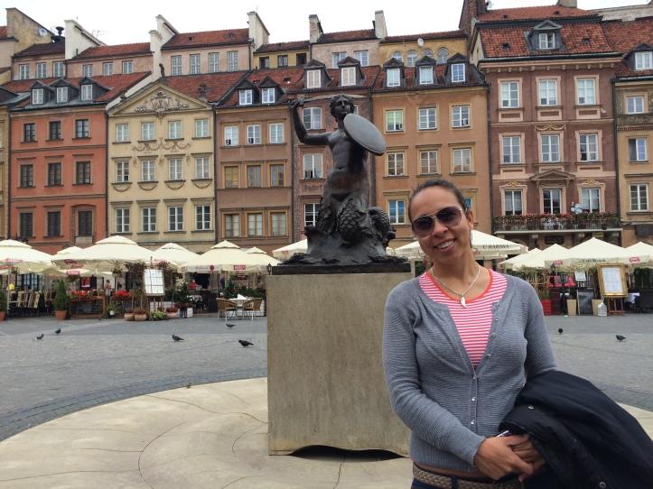 Um dos símbolos de Varsóvia: a Sereia