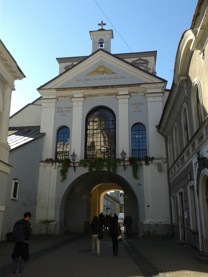 Gates of Dawn visto pela parte de dentro do Centro Histórico