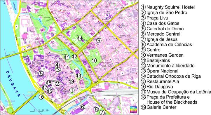 mapa Riga editado