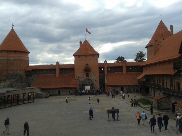 Pátio principal do castelo de Trakai
