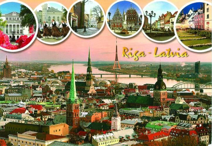 Postal Riga frente