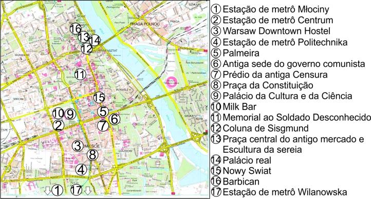 Mapa Varsóvia editado