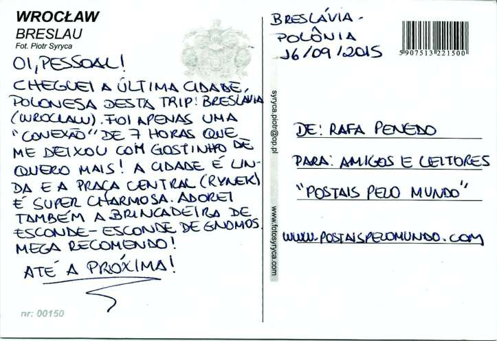 Postal Breslávia verso