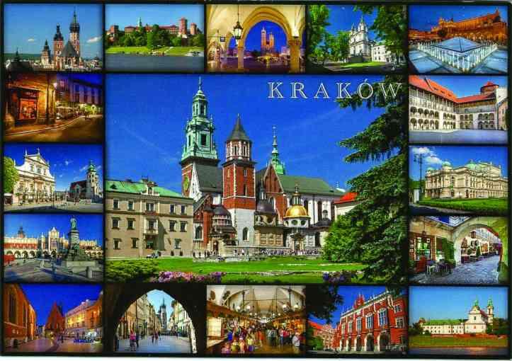 postal Cracóvia frente