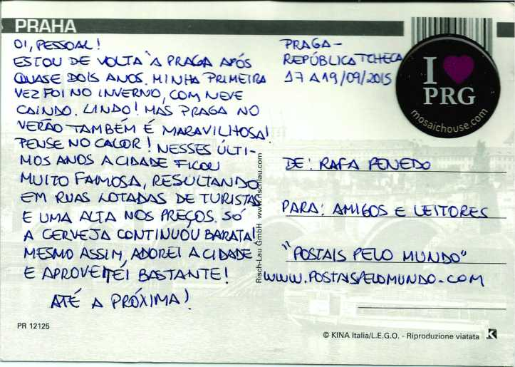Postal Praga_verso
