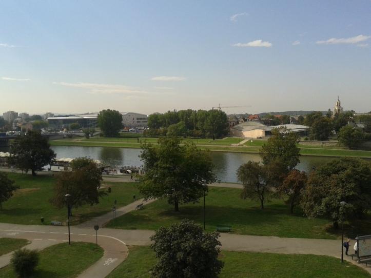 Vista do rio Vístula a partir do mirante do Castelo Wawel
