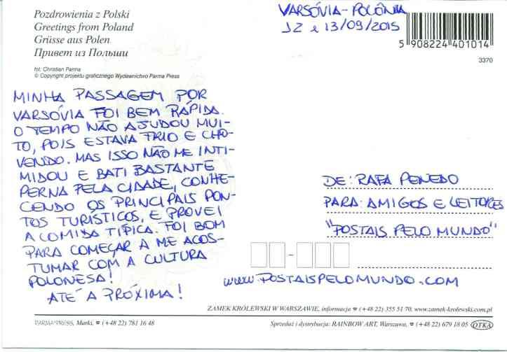 Varsóvia_postal verso