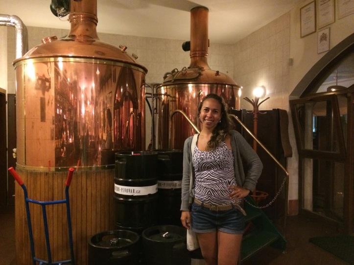 Os tanques de produção de cerveja