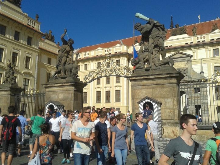 Entrada para o castelo de Praga