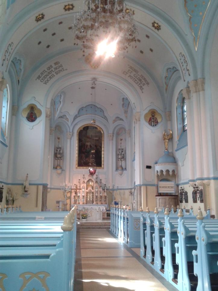 Igreja Azul por dentro