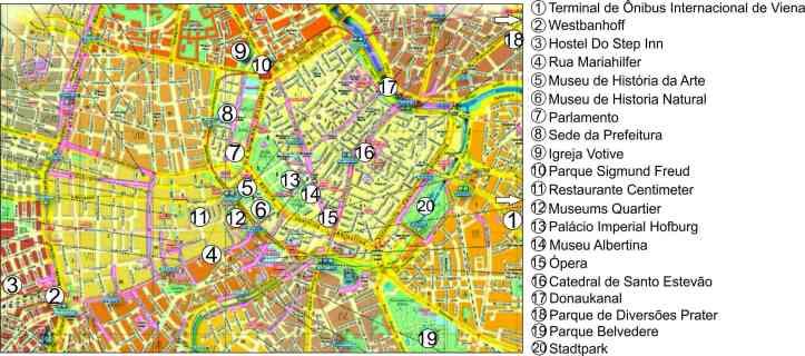 mapa Viena