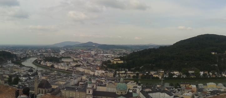 Panorâmica de Salzburgo a partir doa Fortaleza HohenSalzburgo
