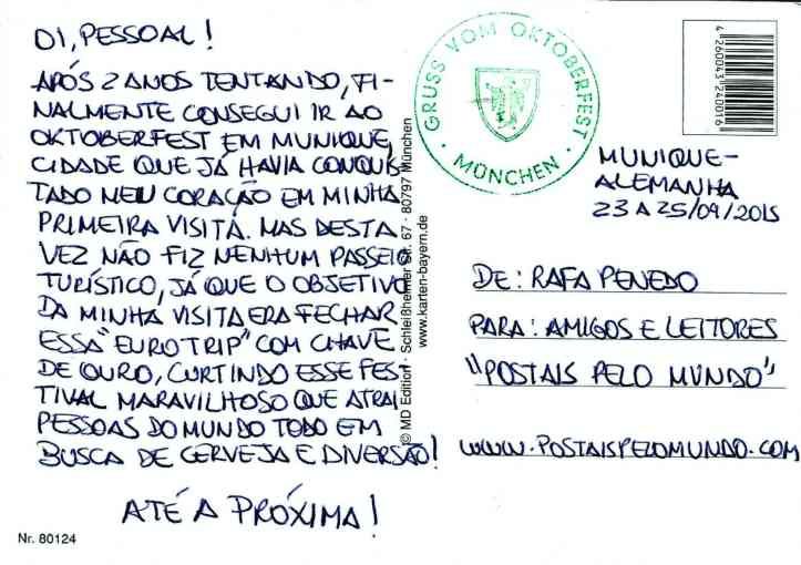 Postal Munique verso