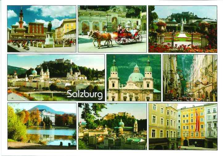 Postal Salzburgo frente