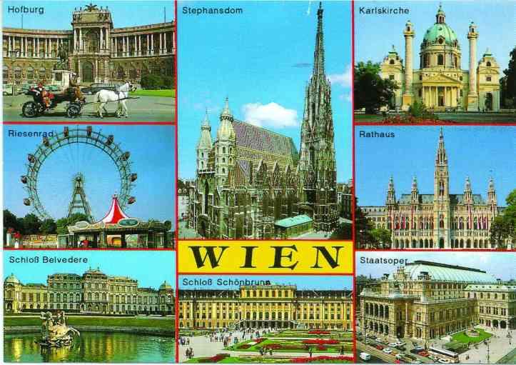 Postal Viena frente