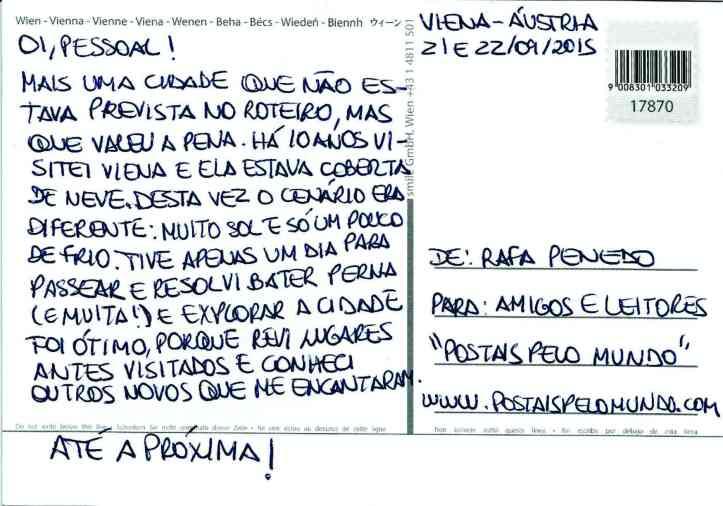 Postal Viena verso