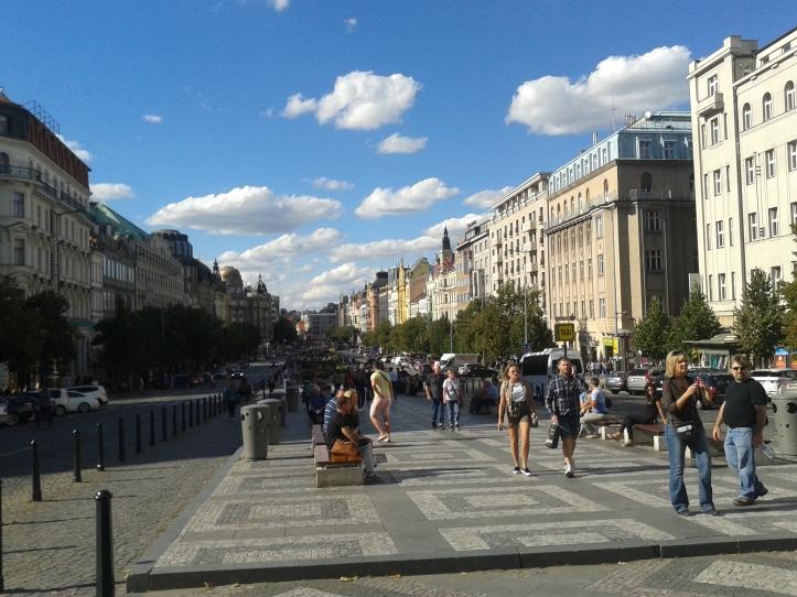 Rua das lojas: Vaclavské Namesti