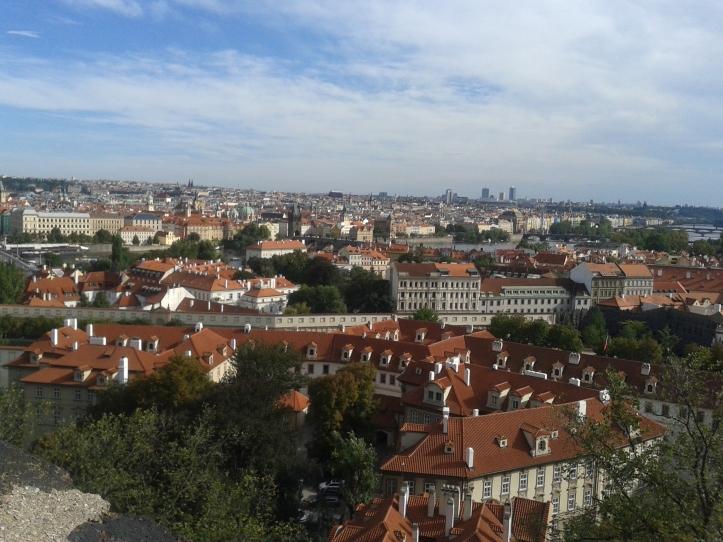 Praga vista do alto do castelo