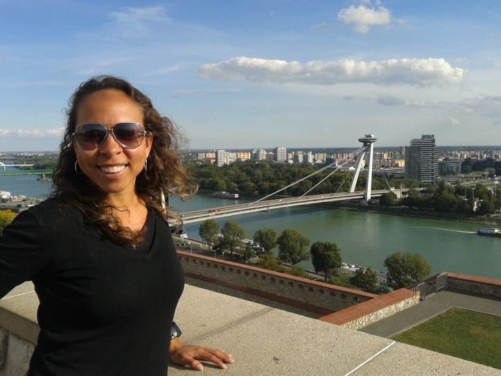 Vista do rio Danúbio a partir do mirante do Castelo
