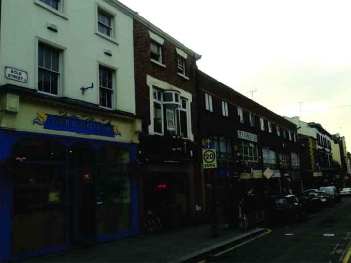Bold st. - rua repleta de bares e restaurantes