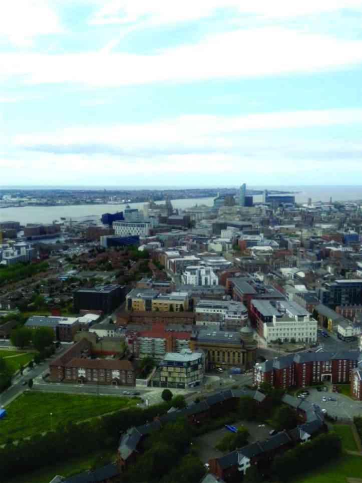 Liverpool vista do alto
