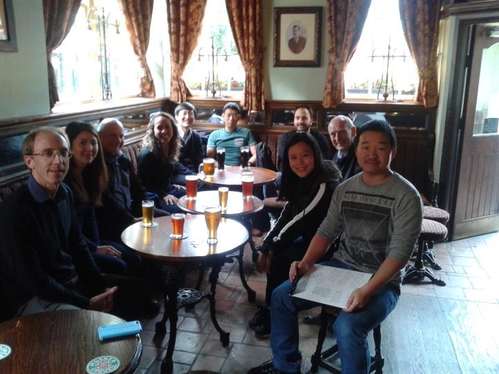 Pessoal do ARU reunido no Cambridge pub