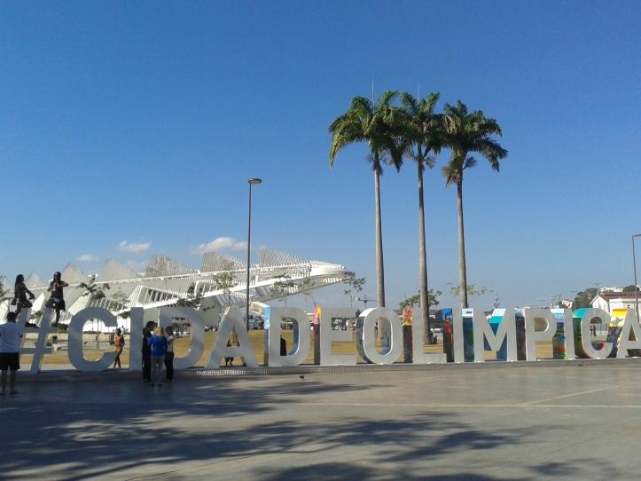 Monumento em homenagem à Cidade Olímpica