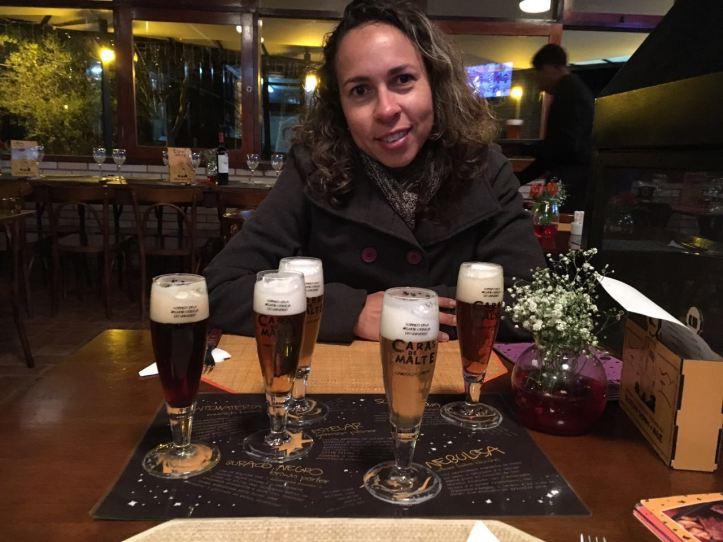 Menu degustação de cervejas Caras de Malte