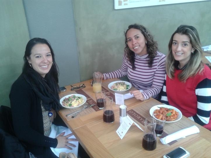 Almoço no restaurante La Pasta no Eataly