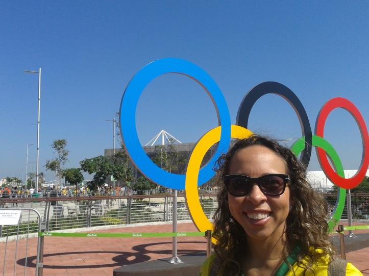 Anéis Olímpicos no Parque Olímpico da Barra da Tijuca