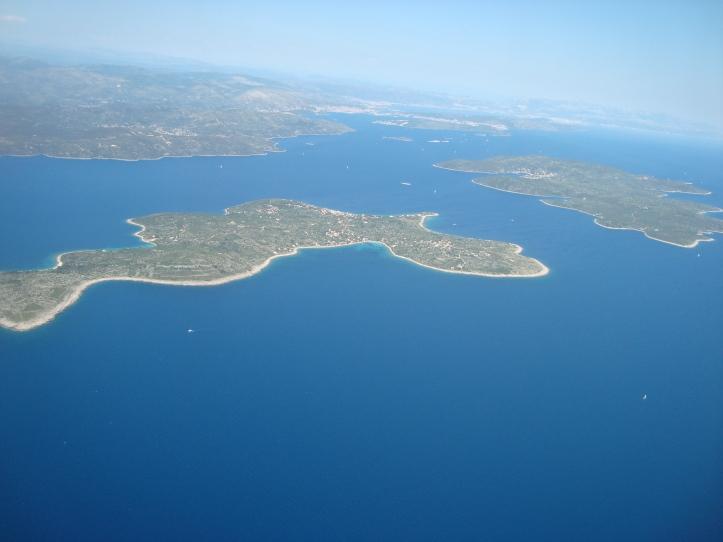 Croácia vista do avião