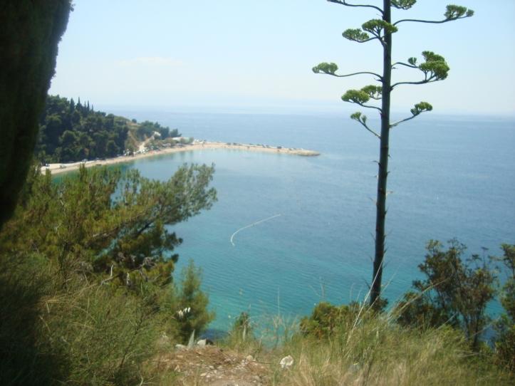 Kasuni - linda praia de Split, mas com uma íngrime ladeira de acesso!