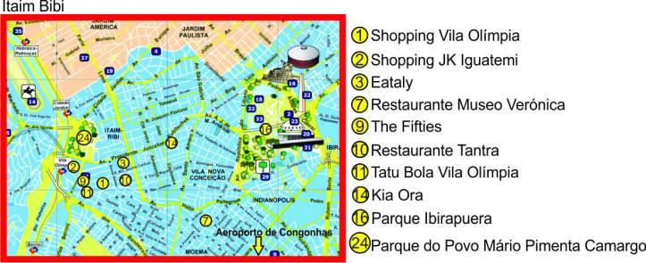 mapa Itaim Bibi