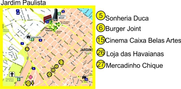 mapa Jardim Paulista