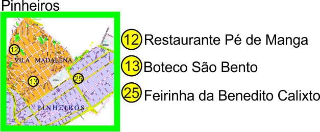 mapa Pinheiros