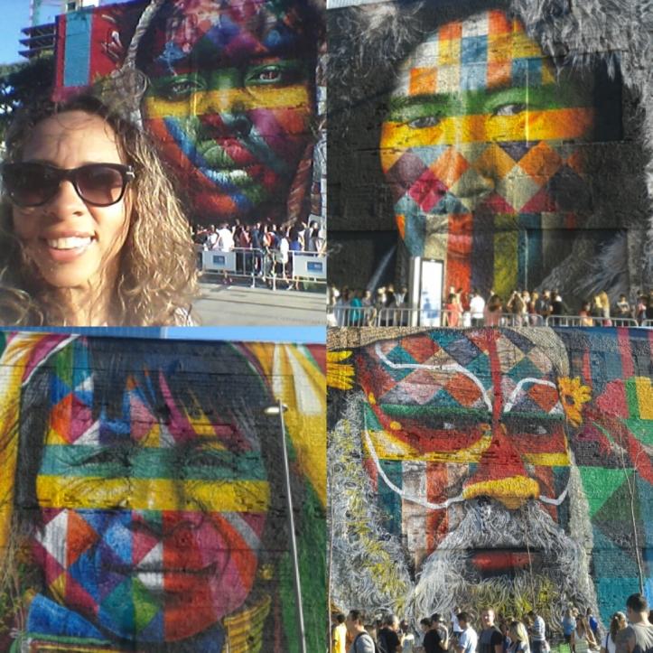 Mural do grafiteiro Kobra no Boulevard Olímpico (zona portuária)