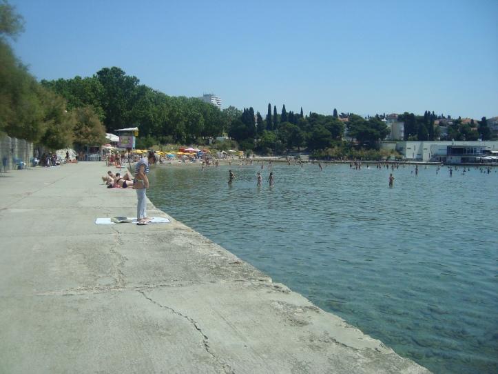 Bacvice - praia de calçada em Split!