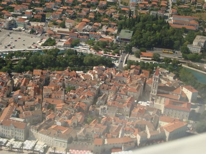 Palácio Diocleciano de Split visto do alto