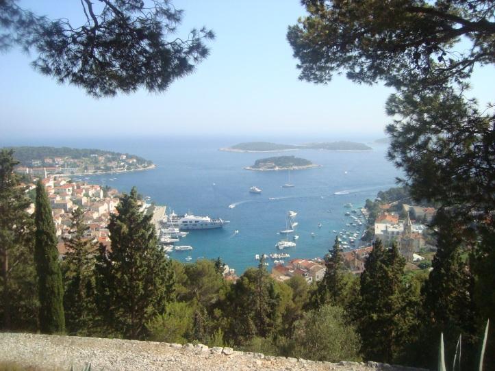Vista a partir do mirante do forte Spanjola
